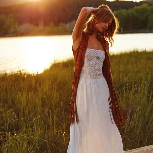 Vestidos largos verano stradivarius