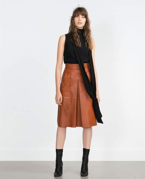 Resultado de imagen para falda color caramelo