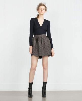 Zara-falda-mini-volumen-jacquard-