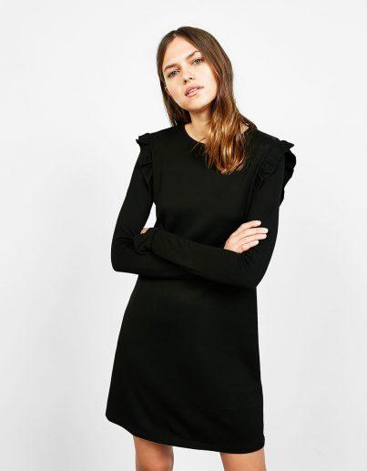 Vestidos negro bershka