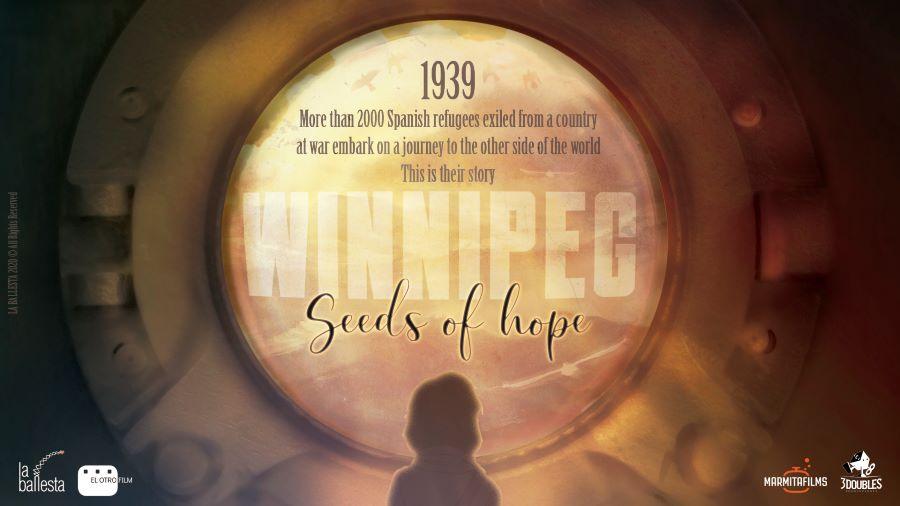 "WINNIPEG TEASER POSTER - Proyecto ""Winnipeg, el barco de la esperanza"", gana la Liga de la Animación Iberoamericana"