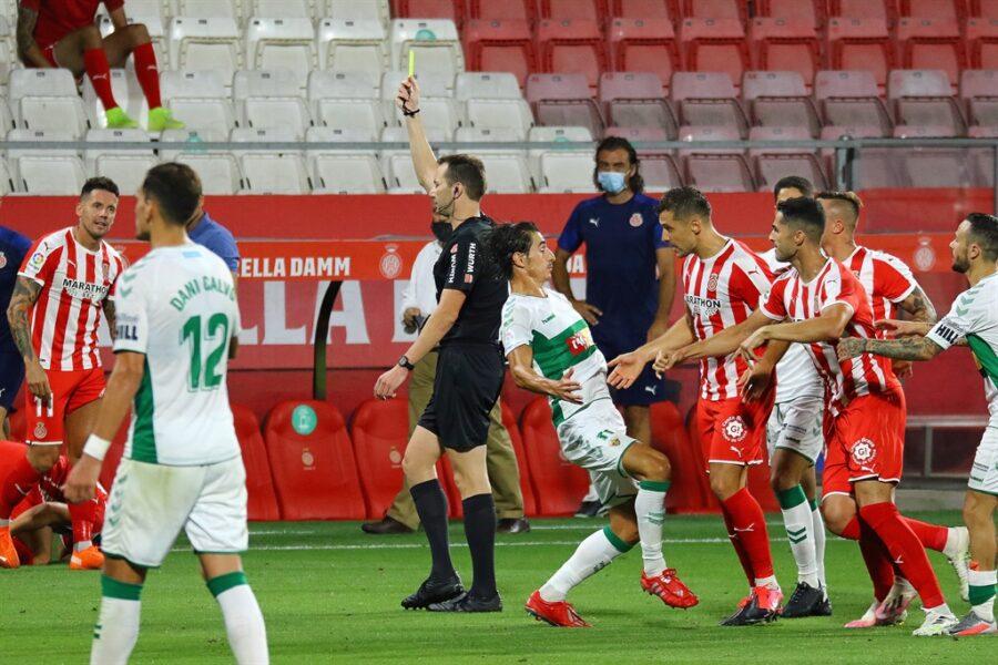 Girona 0 Elche1 06 900x600 - Girona Fc 0 - Elche 1 : El Elche asciende en Montilivi con gol último minuto ( con Galería de Foto )